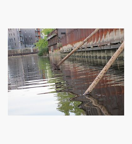 Rusted Industry and Nature Photographic Print