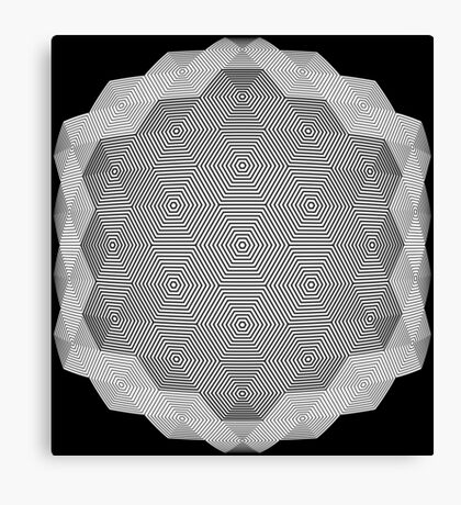 Hex scintillation optical illusion Canvas Print