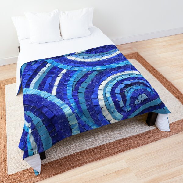 Mosaic art by Sue Kershaw Starry Eyed Comforter