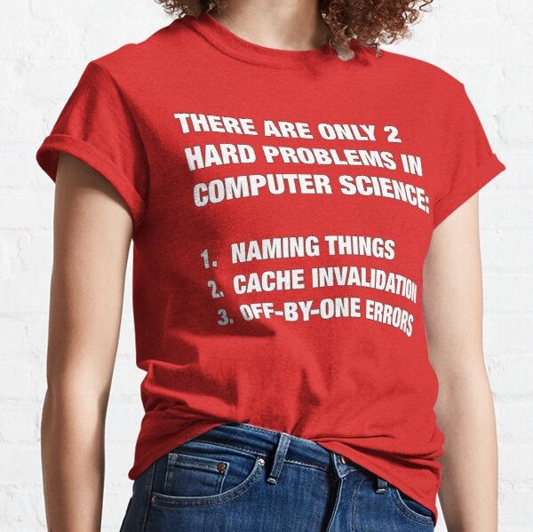 Only 2 hard problems in computer science Classic T-Shirt
