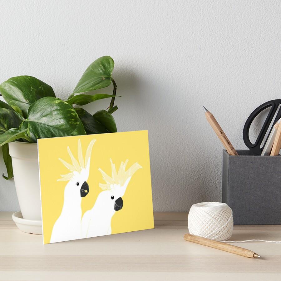 Cockatoos Art Board Print