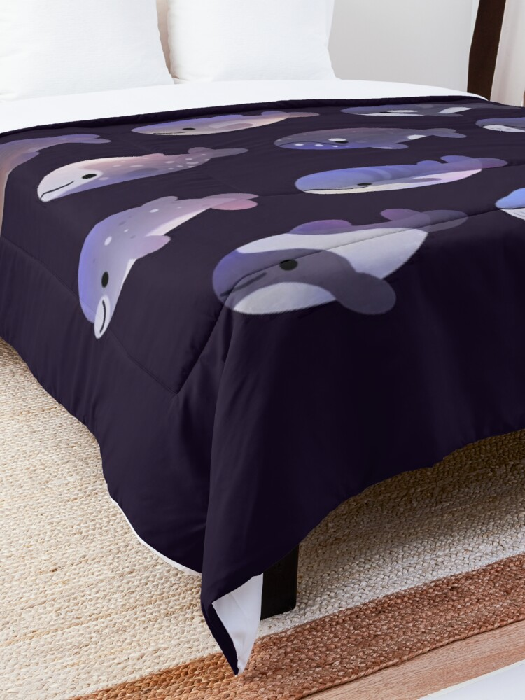 Alternate view of Whale Day Comforter