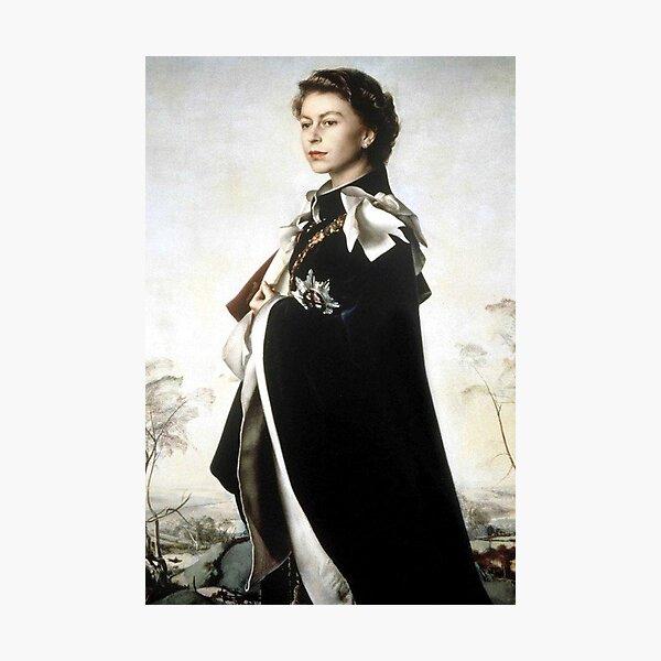 Portrait of Queen Elizabeth II Photographic Print