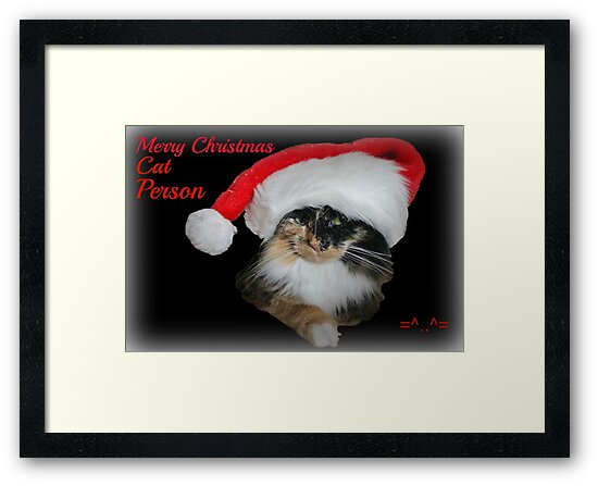 Merry Christmas Cat Person by Ladymoose