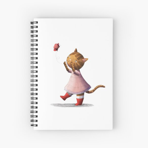 Kitty and Butterfly Spiral Notebook
