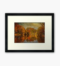 Autumn - Landscape - Tamaques Park - Autumn in Westfield New Jersey  Framed Print
