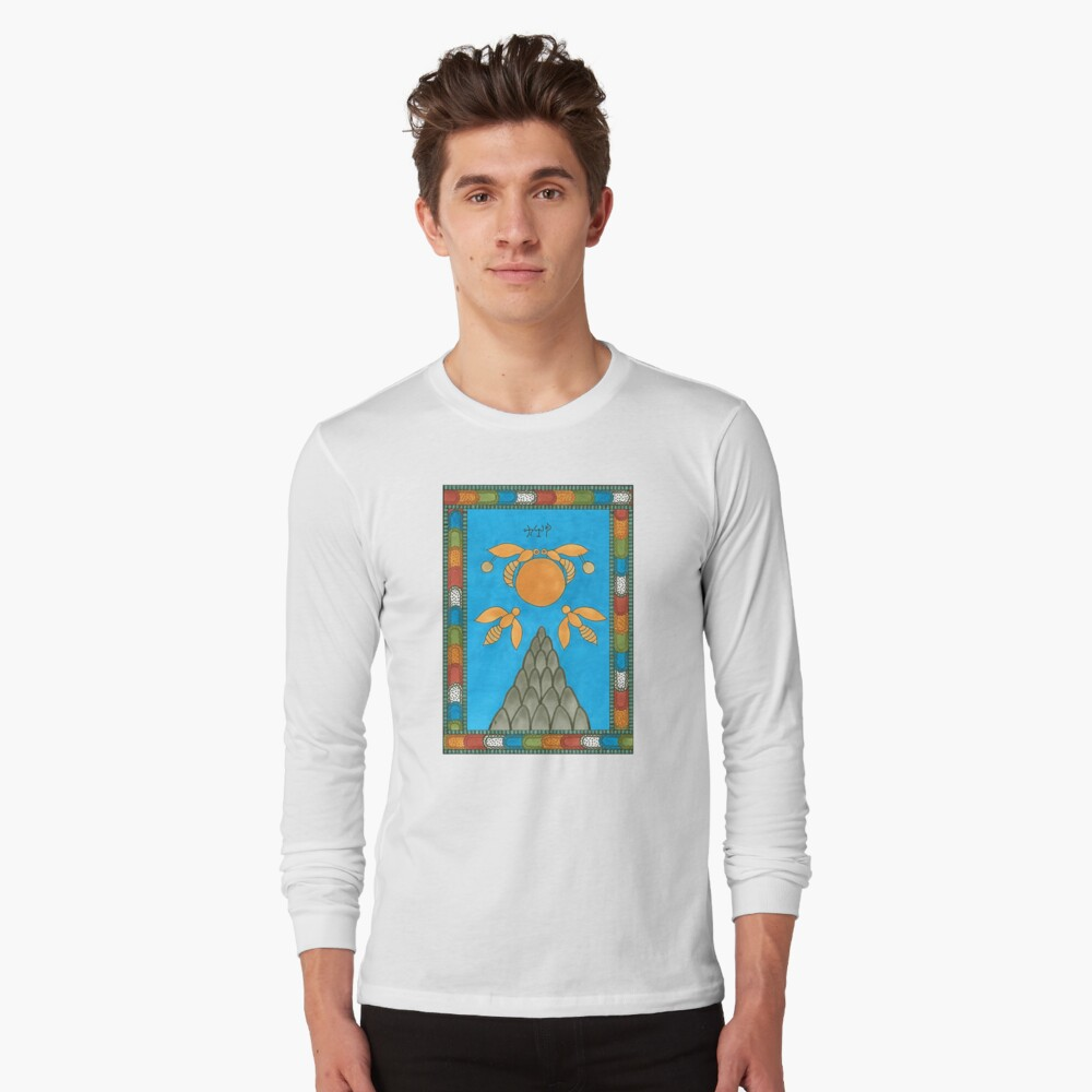 19 The Sun from The Minoan Tarot Long Sleeve T-Shirt