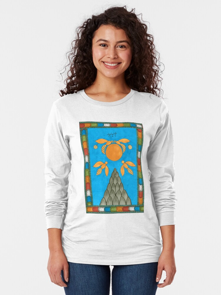 Alternate view of 19 The Sun from The Minoan Tarot Long Sleeve T-Shirt