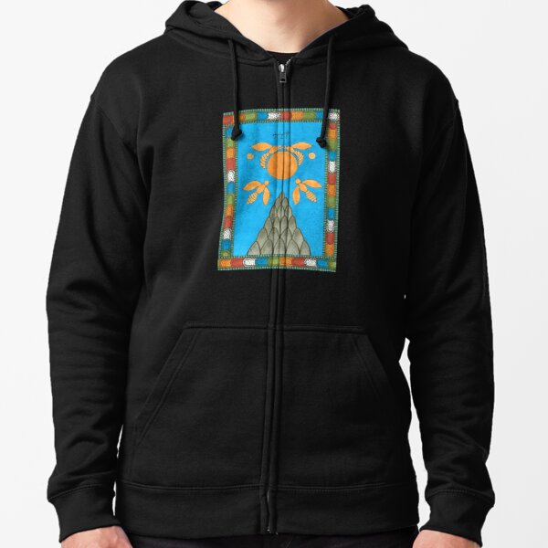 19 The Sun from The Minoan Tarot Zipped Hoodie