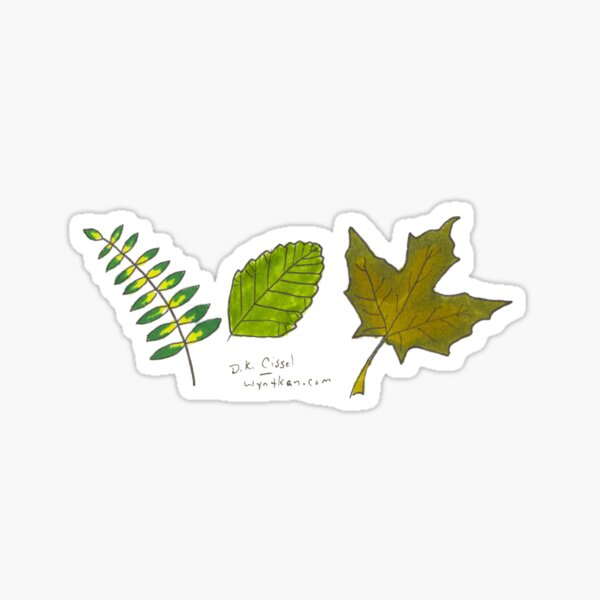 Trio of Leaves Sticker