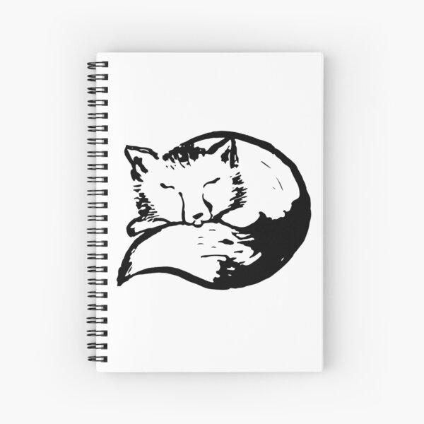cute sleeping fox Spiral Notebook