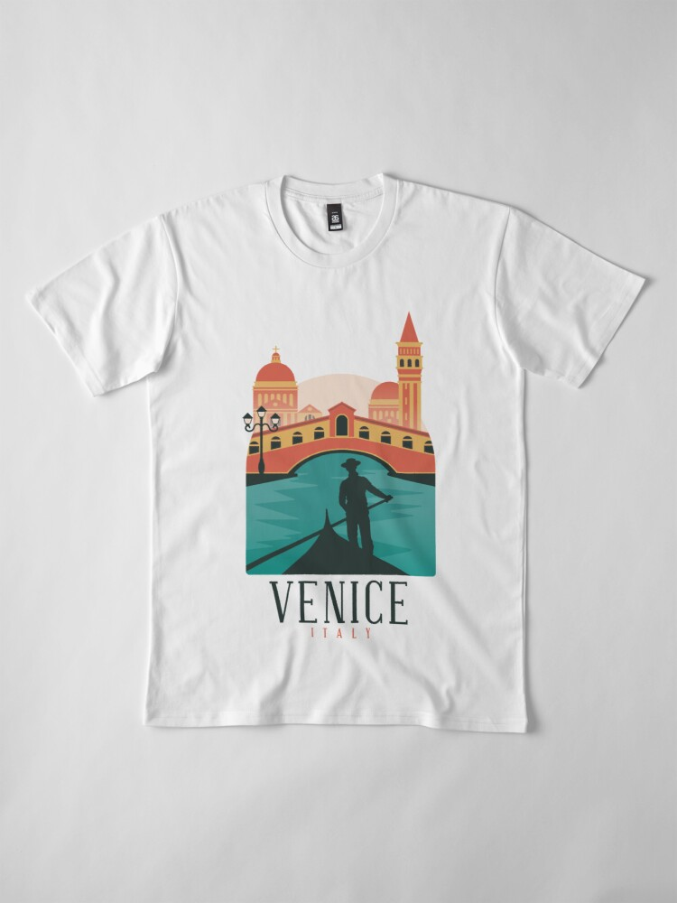 Alternate view of Venice skyline Premium T-Shirt
