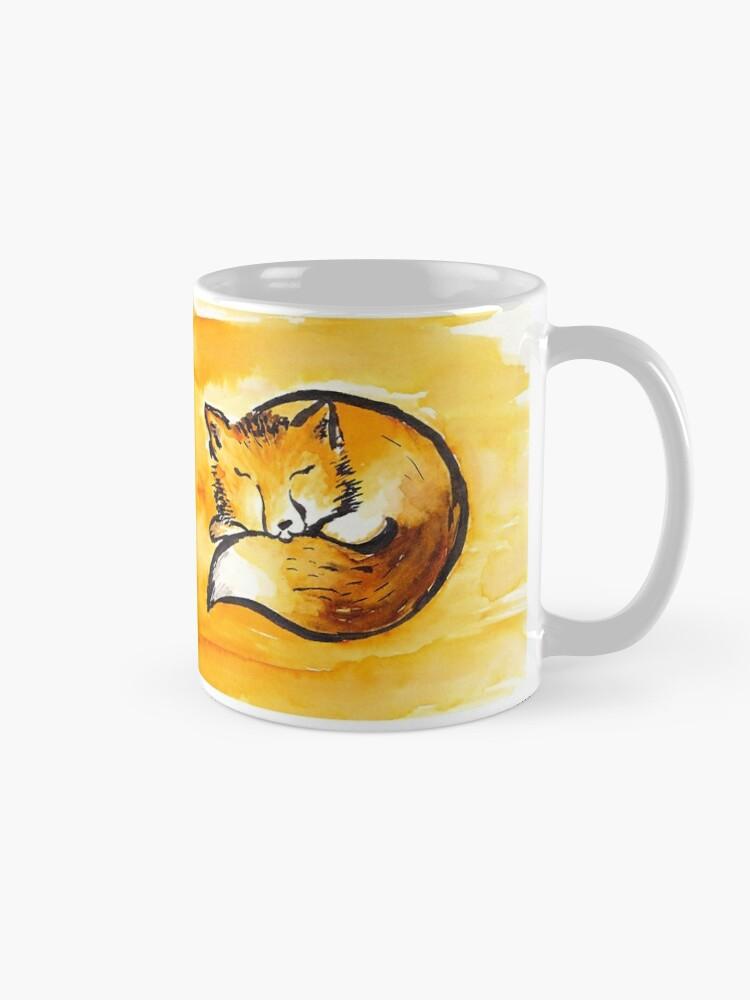 Alternate view of cute sleeping fox Mug