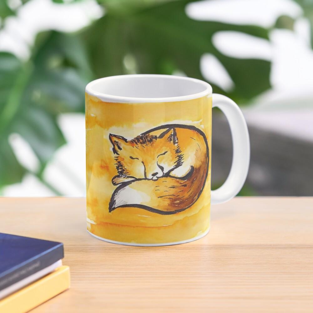 cute sleeping fox Mug