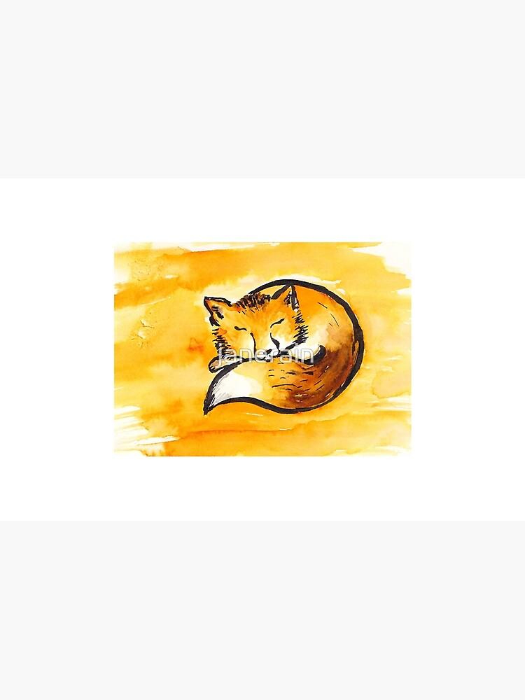 cute sleeping fox by janerain