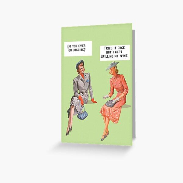 Une carte de style rétro drôle Carte de vœux