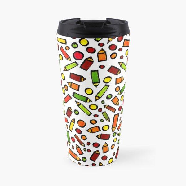 Pencils pattern Travel Mug
