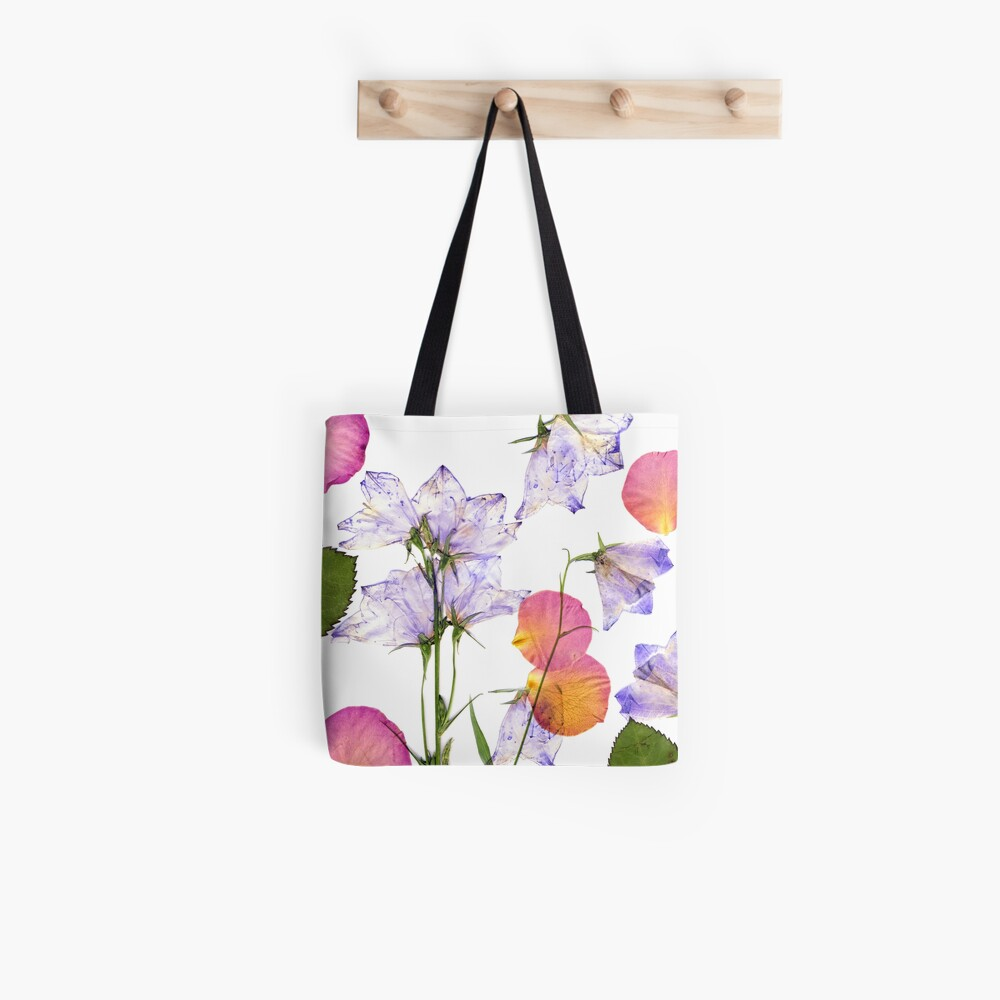 Delicate spring flowers and rose petals pressed Tote Bag