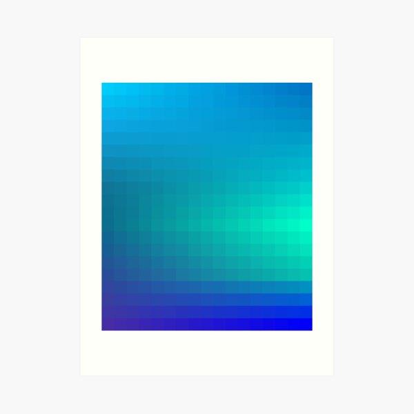 Blue Seagreen Ombre Art Print