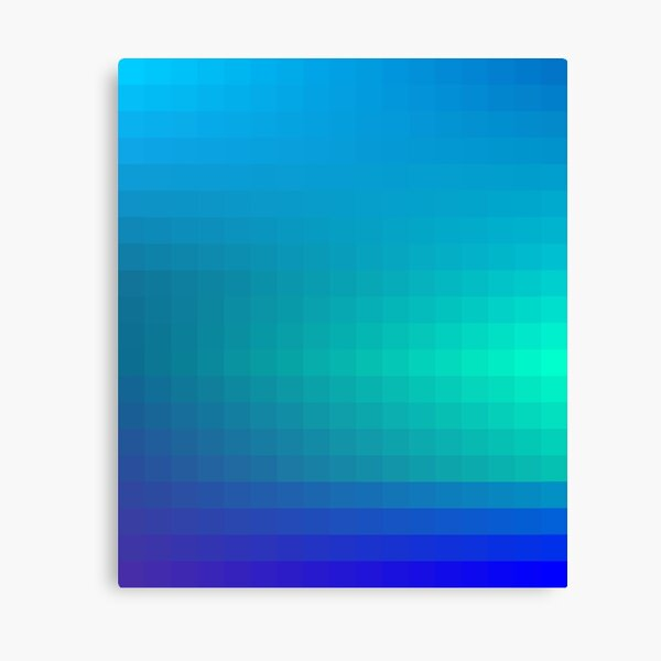 Blue Seagreen Ombre Canvas Print