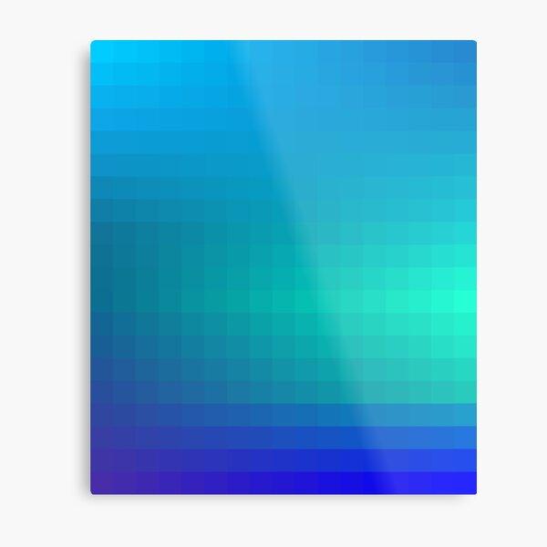 Blue Seagreen Ombre Metal Print