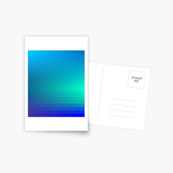 Blue Seagreen Ombre Postcard