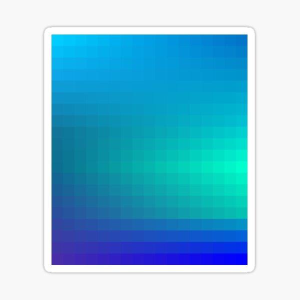 Blue Seagreen Ombre Sticker