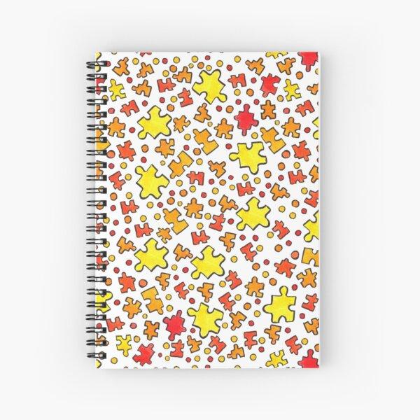 puzzle pieces fun pattern Spiral Notebook