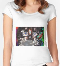 Psychedelic Kitty Women's Fitted Scoop T-Shirt