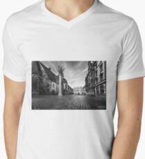 Urban Street Scene - City Square Leipzig Germany Men's V-Neck T-Shirt