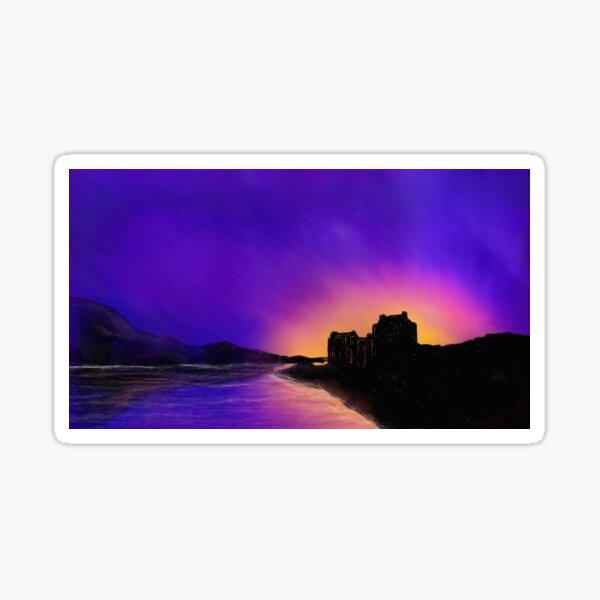Eilean Donan Sunset Sticker