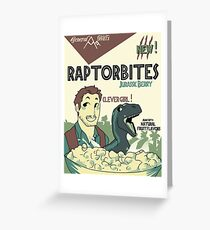 RAPTORBITES JURASSIC BERRY Greeting Card