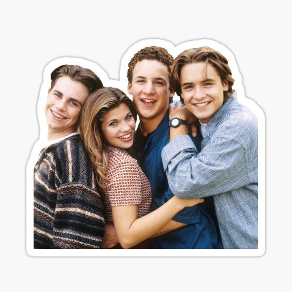 'Boy Meets World' Cory Matthews, Shawn Hunter, Topanaga Lawrence, Eric Matthews Sticker