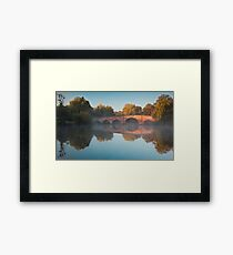Sunrise over Sonning Bridge Framed Print