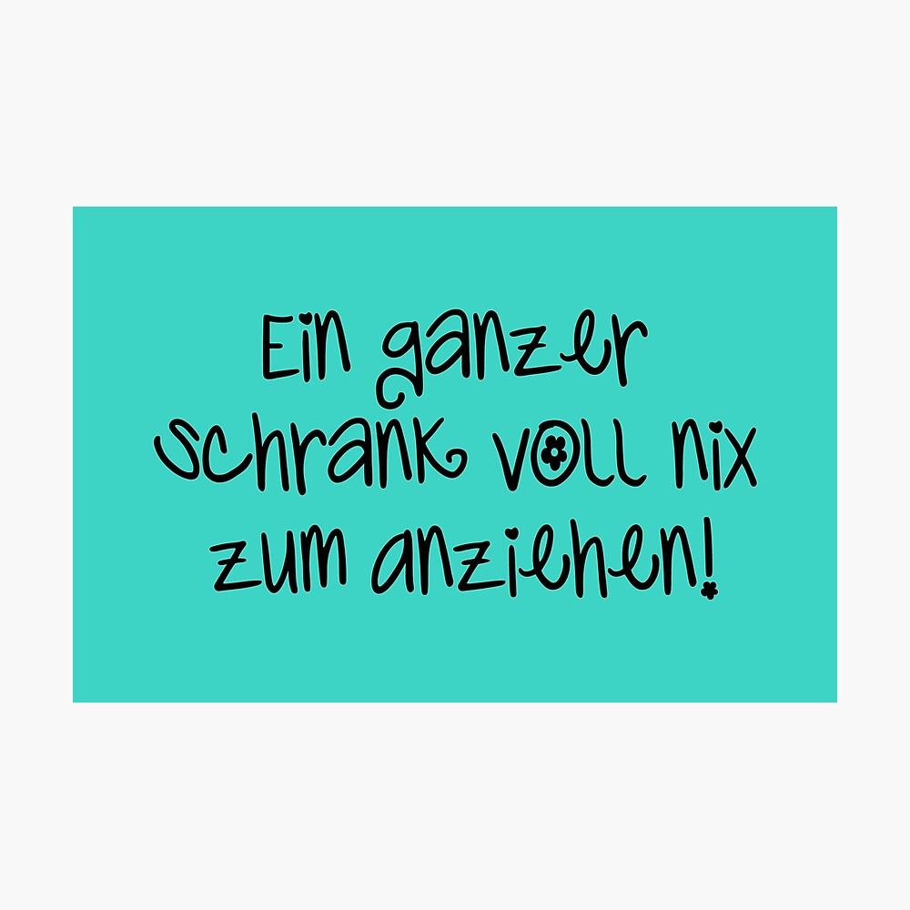 Schrank Voll Nix Zum Anziehen Schwarz Poster By Hard Wear Redbubble