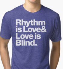 André Cymone Love to Dance Electric Helvetica Threads Tri-blend T-Shirt