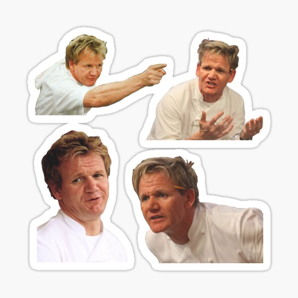 Angry Gordon Ramsay Meme Pack Sticker