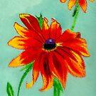Ocean Ripples Birthday Flowers by Anne Gitto