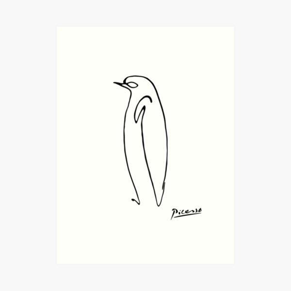 Picasso Penguin with signature Art Print