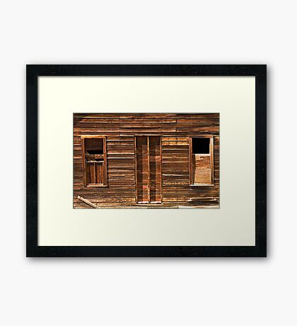 Lines, Shadows, Textures, And Abandonment Framed Print