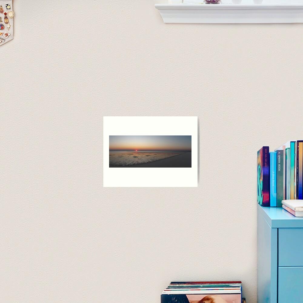 Sunset at Bedwell Island Art Print