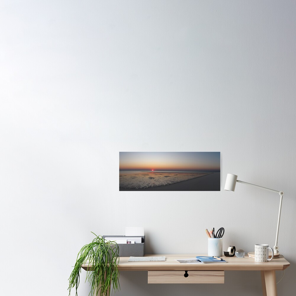 Sunset at Bedwell Island Poster