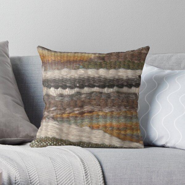 Weaving in Earthy Tones Throw Pillow