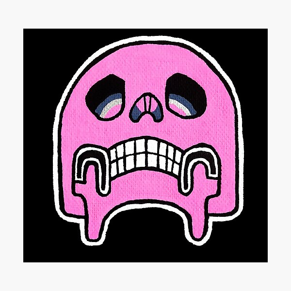 Pink Pop Skull Photographic Print