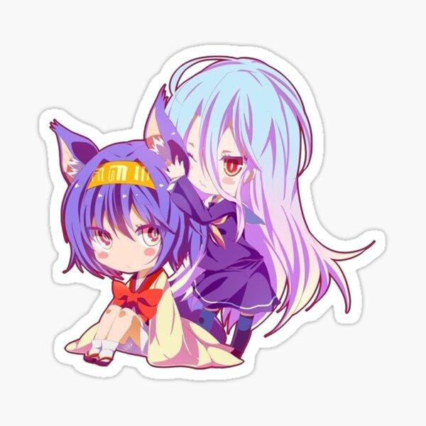 No Game No Life Izuno-chan and Shiro-chan Sticker