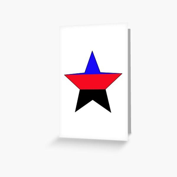 Polyamorous Flag Star Art Greeting Card