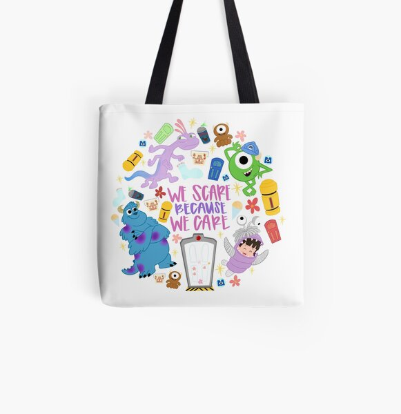 Scaring Is Caring All Over Print Tote Bag
