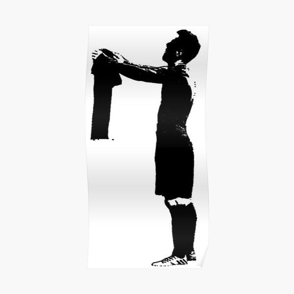 Lionel Messi ante el Bernabeu Póster