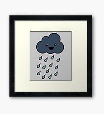 Happy Rain Cloud 3 Framed Print
