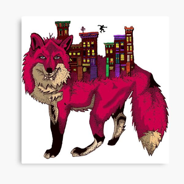 Brownstone Cold Fox Canvas Print